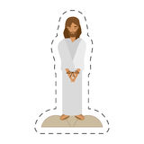 Cartoon jesus christ sentenced death - via crucis Royalty Free Stock Photography