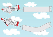 Cartoon jet signs Royalty Free Stock Images