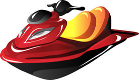 Cartoon Jet Ski Royalty Free Stock Images