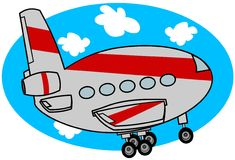 Cartoon Jet Taking Off Stock Photos