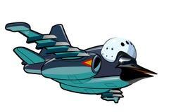 Cartoon Jetbird 2 Stock Image