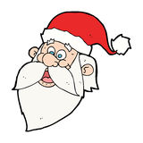 Cartoon jolly santa claus face Stock Images