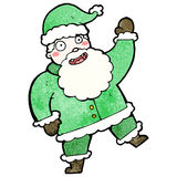 Cartoon jolly santa claus Stock Photos