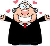 Cartoon Judge Hug Stock Photo