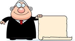Cartoon Judge Sign Stock Photography