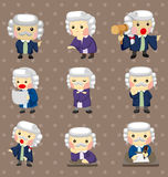Cartoon Judge stickers Stock Photos