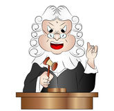 Cartoon Judge Vector Illustration Royalty Free Stock Image