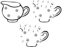 Cartoon jug. Vector illustration. Coloring and dot to dot game f Royalty Free Stock Photos
