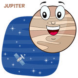 Cartoon Jupiter Planet Character Stock Photography