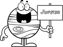 Cartoon Jupiter Sign Stock Image