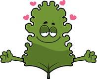 Cartoon Kale Leaf Hug Royalty Free Stock Photos