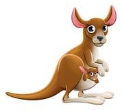 Cartoon Kangaroo Animal Character Stock Photos
