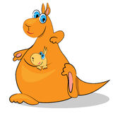 Cartoon kangaroo. baby animal Royalty Free Stock Image