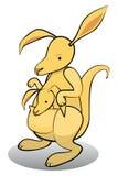 Cartoon kangaroo with baby Stock Photo
