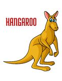 Cartoon kangaroo character Royalty Free Stock Photo