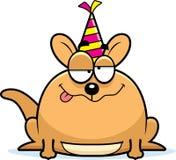 Cartoon Kangaroo Drunk Party Stock Photography