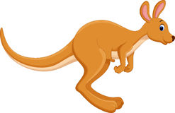 Cartoon kangaroo jumping Royalty Free Stock Image