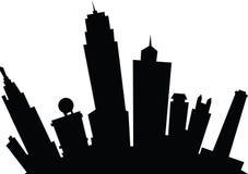 Cartoon Kansas City. Cartoon skyline silhouette of the city of Kansas City, Kansas, USA Royalty Free Stock Photos