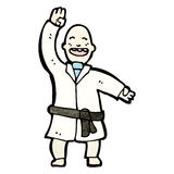 Cartoon karate man Royalty Free Stock Image