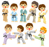 Cartoon Karate Player icon Royalty Free Stock Photography
