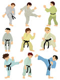 Cartoon Karate Player icon Royalty Free Stock Photo