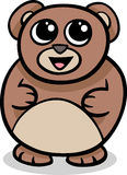 Cartoon kawaii bear illustration Royalty Free Stock Photo