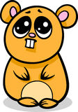 Cartoon kawaii hamster illustration Stock Images