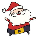 Cartoon kawaii of santa claus. A creative illustrated cartoon kawaii of santa claus vector illustration