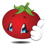 Cartoon Kawaii Tomato Stock Image