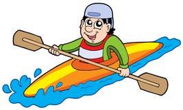 Cartoon kayaker Royalty Free Stock Photo