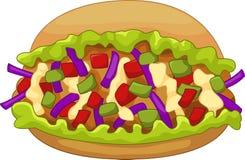 Cartoon kebab doner Royalty Free Stock Image
