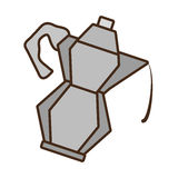 Cartoon kettle coffee tea cookware. Illustration eps 10 Royalty Free Stock Photo