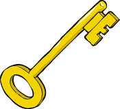 Cartoon key Stock Photos