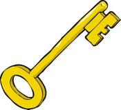 Cartoon key vector illustration
