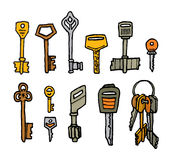 Cartoon key set Stock Images