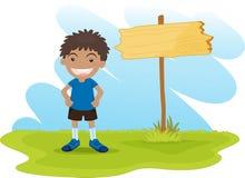 Cartoon kid Stock Images