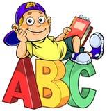 Cartoon kid on ABC Royalty Free Stock Photo