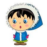 Cartoon kid. baby girl isolated character Stock Photo