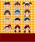 Cartoon kid card Stock Photo