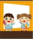 Cartoon kid card Stock Image