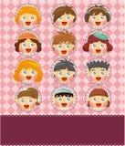 Cartoon kid card Royalty Free Stock Image