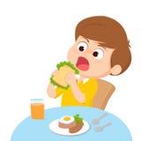 Cartoon Kid eating Royalty Free Stock Photos