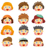 Cartoon kid face icon Royalty Free Stock Images