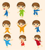 Cartoon kid icon Royalty Free Stock Photography