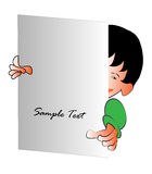 Cartoon Kid with a note Stock Images