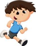 Cartoon kid running Stock Photos