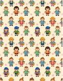 Cartoon kid seamless pattern Stock Photo