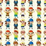 Cartoon kid seamless pattern Royalty Free Stock Image