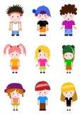 Cartoon kid set Stock Photo