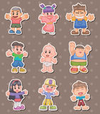 Cartoon kid stickers Royalty Free Stock Photo